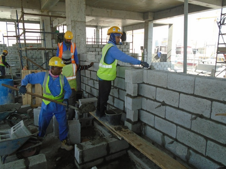 Block works activity at site