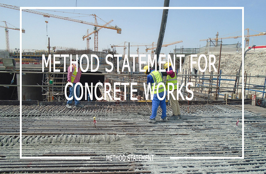 Method Statement for In-situ Concrete & General Concrete Work