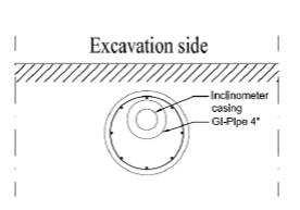 Installation of the inclinometer in Casing of the Pile-method-statement-bored-pile